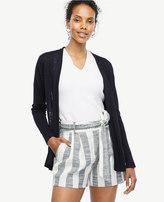 Ann Taylor Petite Linen Blend Open Cardigan