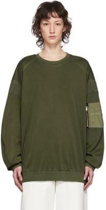 Juun.J Khaki MA1 Pocket T-Shirt