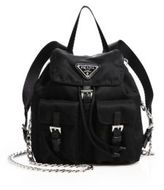 Prada Vela Mini Crossbody Backpack
