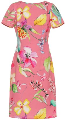 Carolina Herrera Floral stretch-cotton dress