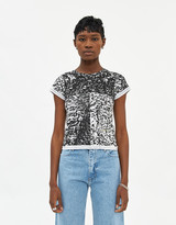Eckhaus Latta Women's Lapped Baby T-Shirt In Astrakhan, Size Small | 100% Cotton