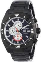Akribos XXIV Men's AK652BK Grandiose Swiss Multifunction Carbon Fiber Dial Stainless Steel Bracelet Watch