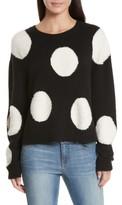 Alice + Olivia Women's Polka Dot Boxy Sweater