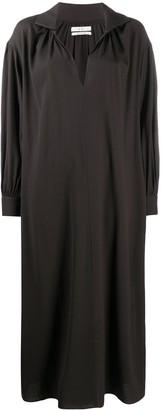 Co Spread-Collar Puff-Sleeves Dress