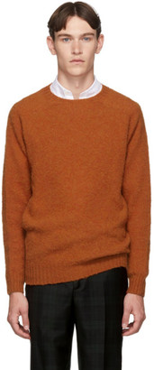 Officine Generale Orange Wool Seamless Crewneck Sweater
