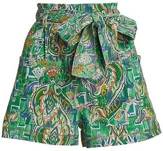 CHUFY Arkar Print Tie-Waist Shorts