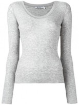 Alexander Wang Scoop Neck Long Sleeve Tee