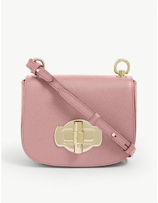 Prada Twist lock leather cross-body bag