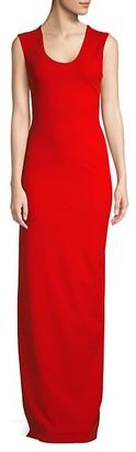 SOLACE London Mille Crepe Knit Column Gown