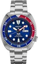 Seiko Dive Blue Dial Mens Silver Tone Bracelet Watch-Srpa21