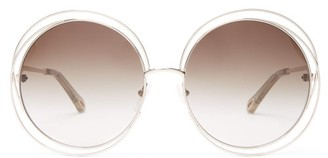 Chloé Carlina Round Metal Sunglasses - Silver