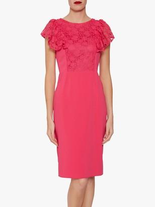 Gina Bacconi Brandi Moss Crepe Dress