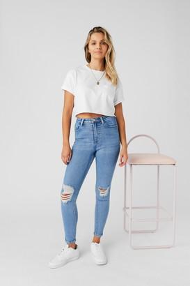 Supre Skinny Premium High Rise Ripped Jean