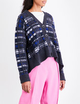 3.1 Phillip Lim Abstract V-neck wool-blend cardigan