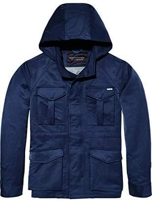 Scotch & Soda Men's 4 Pocket Army Jacket in Shiny Quality,Large