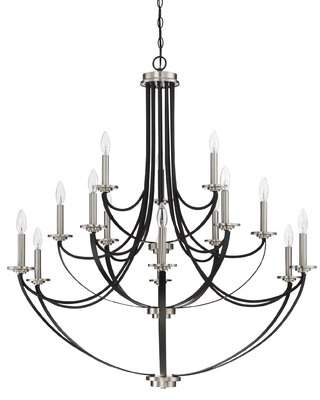 Siavash 15-Light Candle Style Tiered Chandelier Gracie Oaks