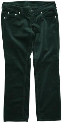 Maison Margiela \N Green Velvet Trousers