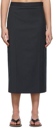 Low Classic Grey Slime Line Midi Skirt