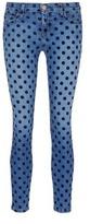 Current/Elliott 'The Stiletto' flocked polka dot jeans