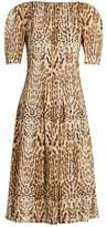 ADAM by Adam Lippes Ocelot leopard-print cotton midi dress