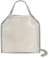 Stella McCartney platinum falabella shiny dotted chamois mini tote