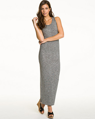 Le Château Jersey Knit Racer Back Maxi Dress