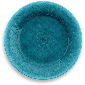 TarHong Potters Reactive Teal Melamine Outdoor Dinner Plate