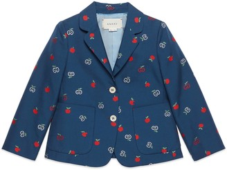 Gucci Baby GG apple fil coupe jacket