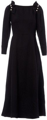 Mother of Pearl Black Cotton Dresses