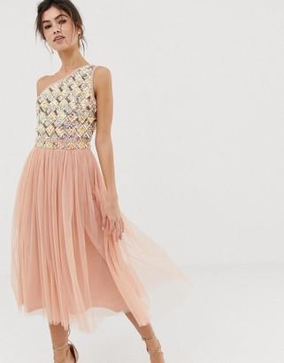 ASOS DESIGN Embellished Tulle Midi Dress
