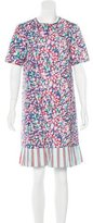 Suno Floral Print Shift Dress