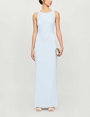 Whistles Tie-back stretch-crepe maxi dress
