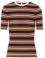 Miu Miu Striped wool top