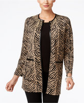 JM Collection Petite Textured Duster Cardigan, Only at Macy's