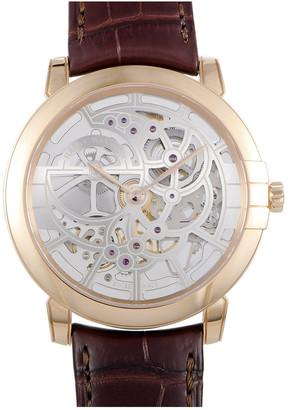Harry Winston Men's Leather Watch