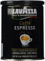 LavAzza Caffe Espresso 100% Premium Arabic Ground Coffee, Cafe Moulu Regular 8 oz