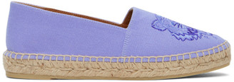 Kenzo Purple High Summer Tiger Espadrilles