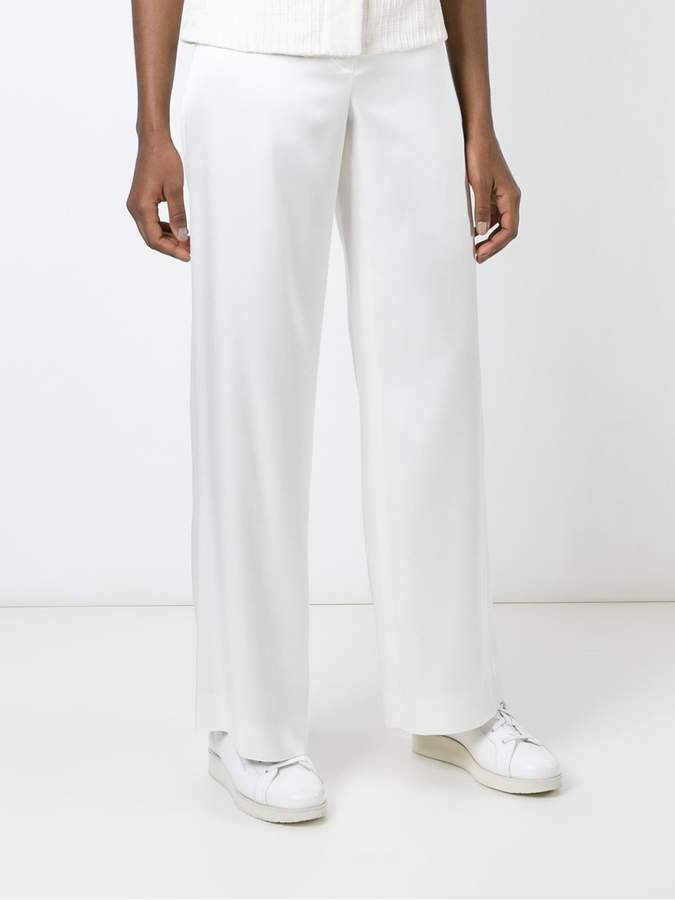 Helmut Lang wide leg trousers
