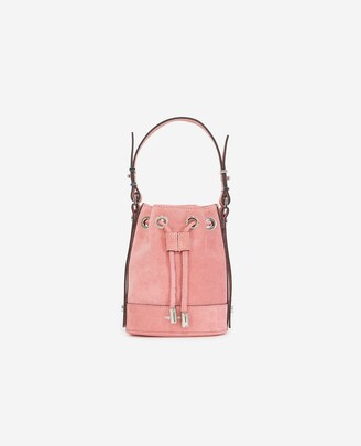 The Kooples Nano Tina bag in pink suede