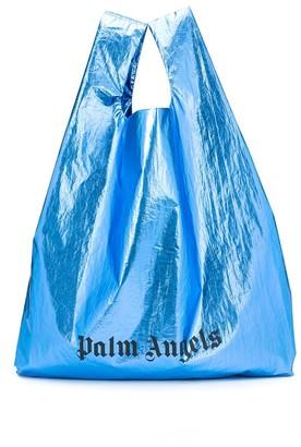Palm Angels Logo Print Shopping Bag