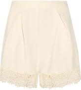 Zimmermann Crepe lace shorts
