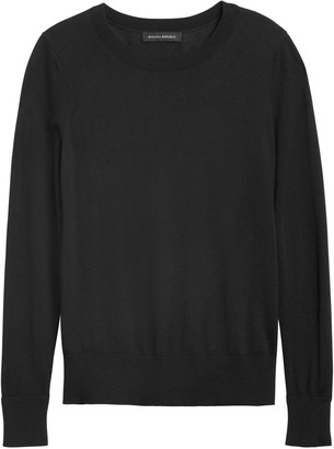 Banana Republic Petite Silk Cashmere Crew-Neck Sweater