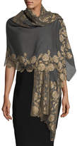Bindya Lace-Trim Evening Stole/Wrap