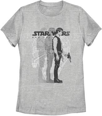 Fifth Sun Juniors' Star Wars Han Solo Crew Tee