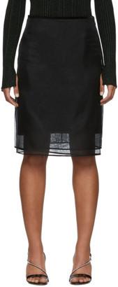 Helmut Lang Black Silk Organza Skirt