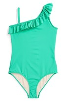 Milly Minis Girl's Ruffle One-Piece Swimsuit
