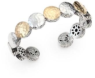 John Hardy Palu 18K Yellow Gold & Sterling Silver Dot Cuff Bracelet