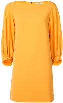 Tibi boat neck flared dress - women - Polyester/Spandex/Elastane - 2