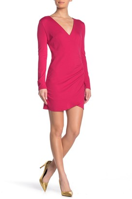 Love by Design Alexandra Surplice Long Sleeve Mini Dress