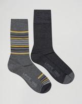 Levis Levi's Socks In 2 Pack Blanket Stripe Black
